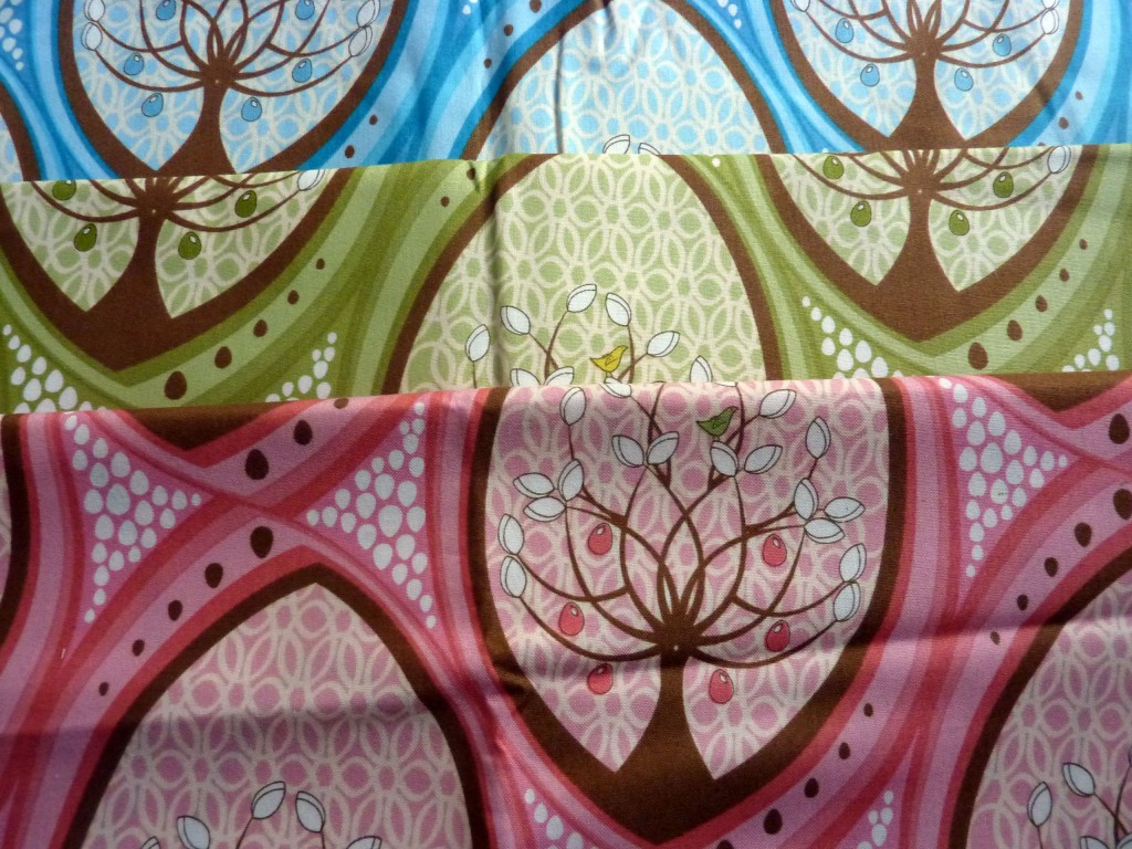 A bit of pear tree. The eagle eyed amongst you might recognise the pink version in my startled chicken quilt.
