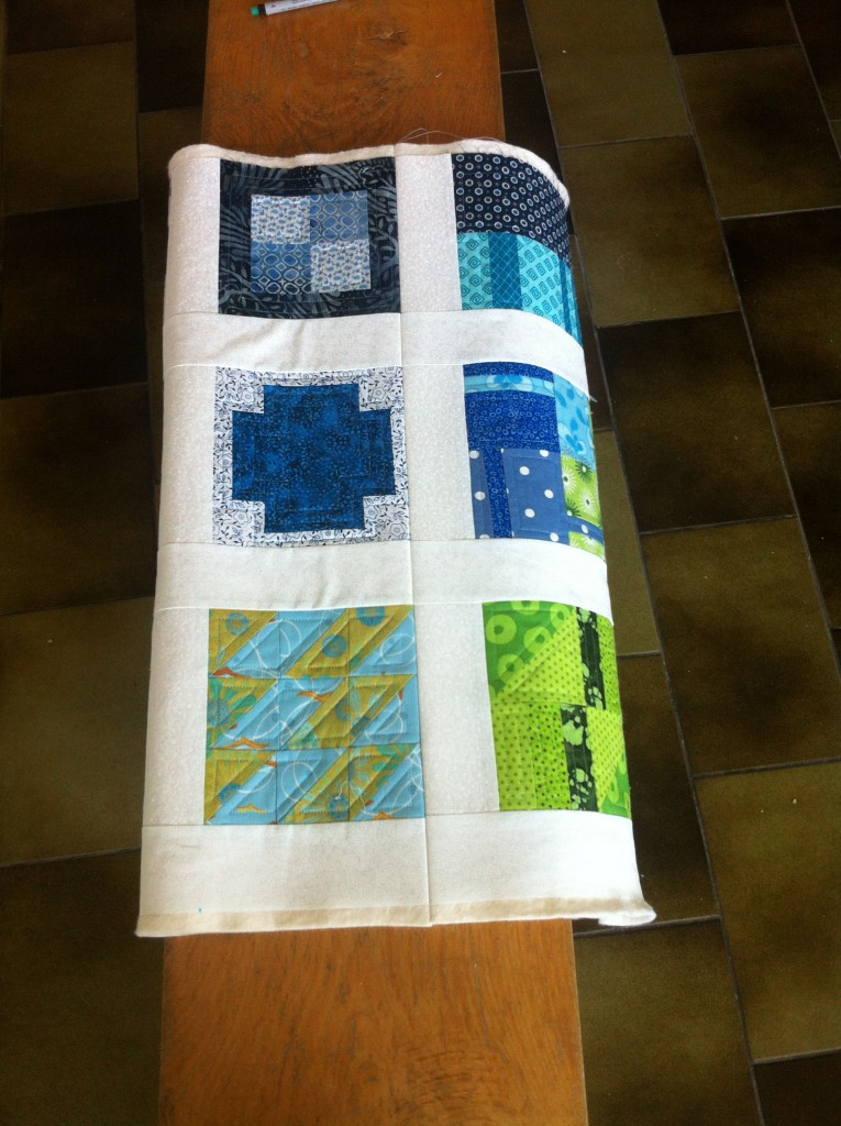 A quilted segment