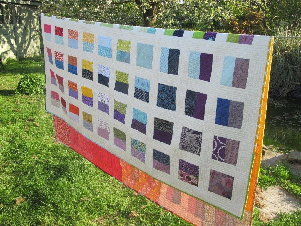 The quilt on an actual sunny day in England.