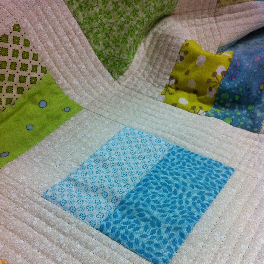 Quilting detail. I love a good straight line.