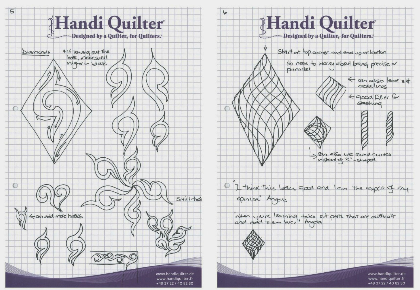Angela-Walters-diamond-quilting-practice